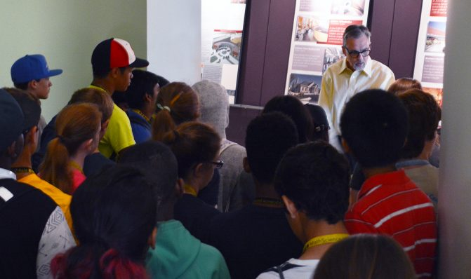 Rich Morse gives the students a tour of our office and studio spaces.